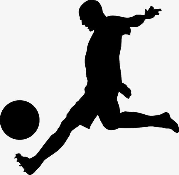 黑色剪影足球运动员奥运会