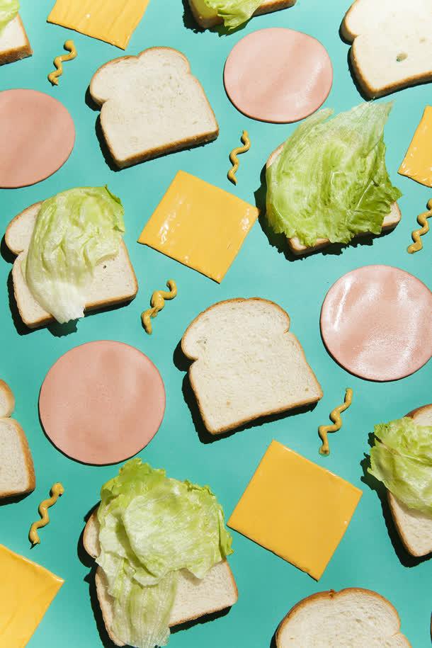 蔬菜三明治海报背景