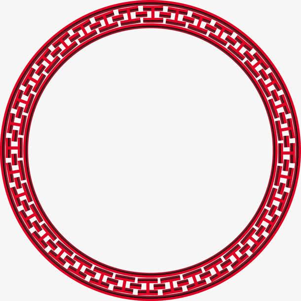 装饰元素 边框 > 红色古风圆环素材  下载高清png 100 编号ljjlkymgib