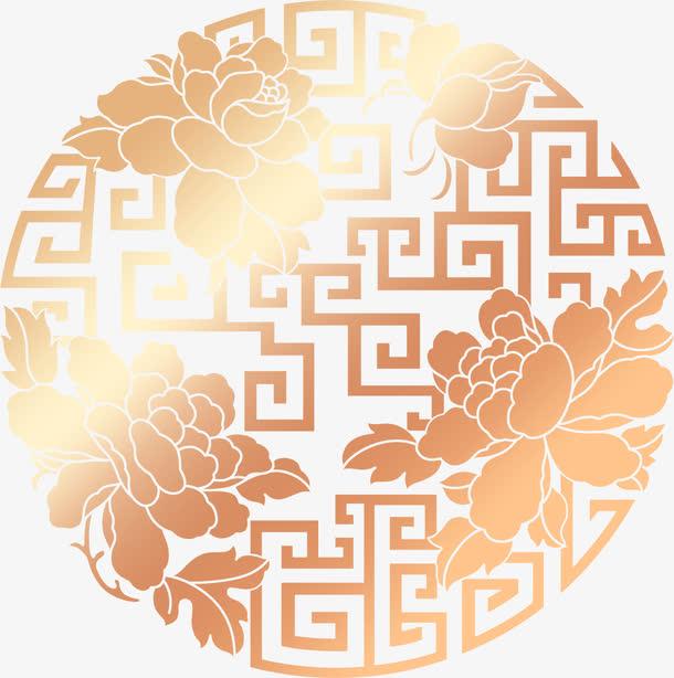 装饰元素 中国风 > 金色镂空圆形莲花花纹中秋  收藏 000 编号qqjjkba