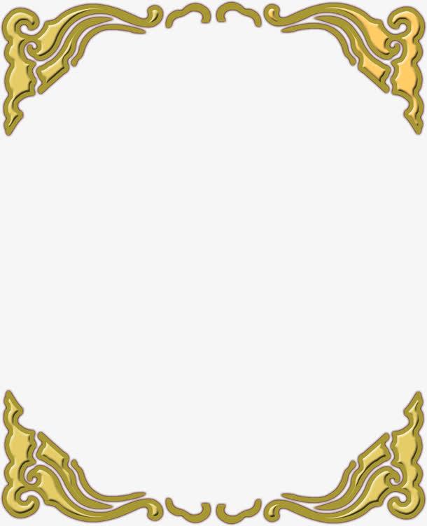 金色对接花纹边框中秋