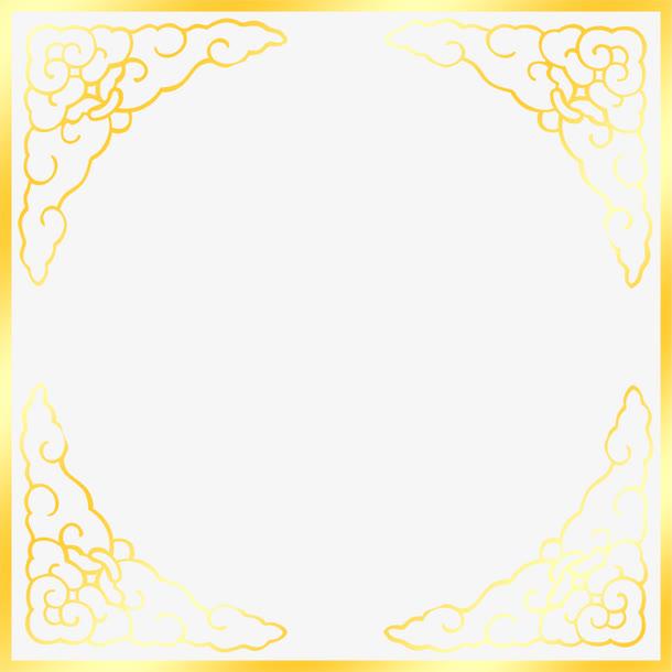金色祥云边框中秋