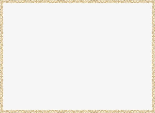 金色花纹长方形边框中秋