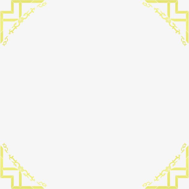 中秋节黄绿色线条边框