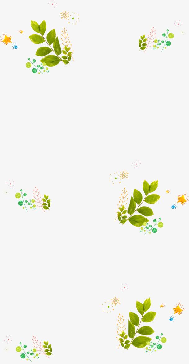 开学季绿色树叶海报免抠素材免费下载_觅元素51yuansu