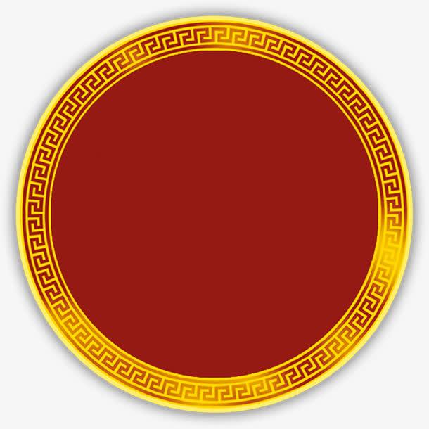 国风,黄色,边框,内部,红色,素材