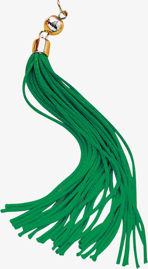 绿色坠子流苏实物素材
