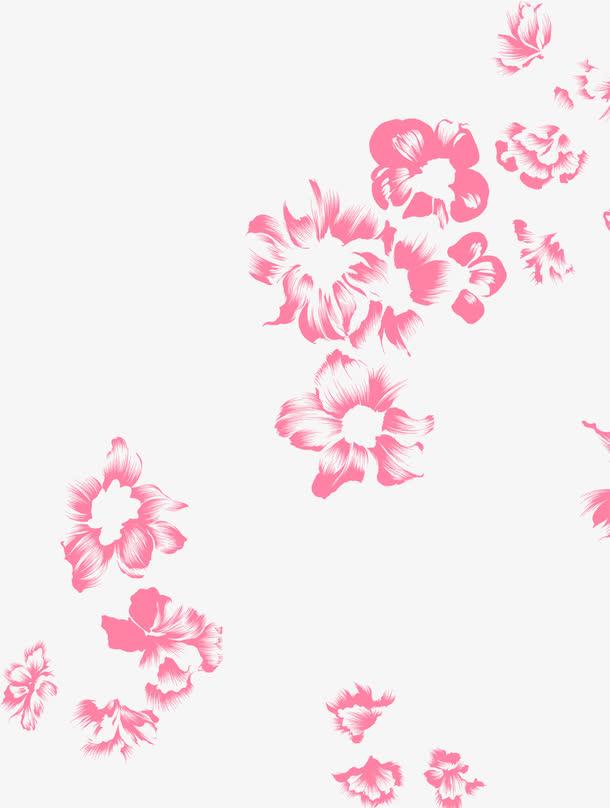 手绘粉色花朵教师节海报