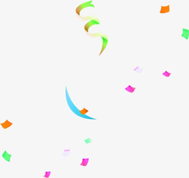庆祝随风飘洒的彩带免抠素材免费下载_觅元素51yuansu