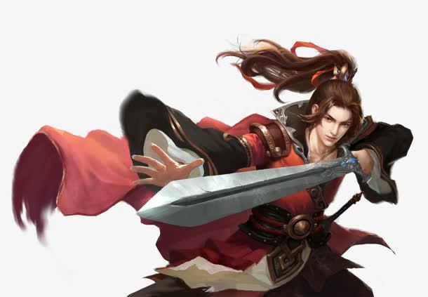古装游戏持剑造型免抠素材免费下载_觅元素51yuansu.