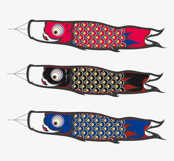 鲤鱼旗 日本 文化卡通手绘