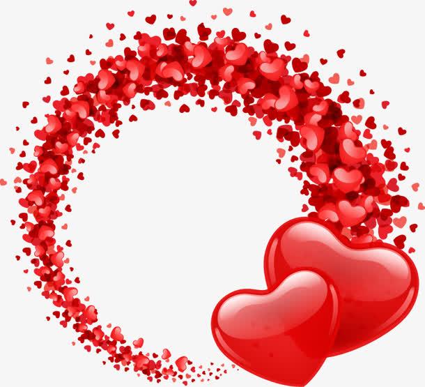 爱心浪漫红色圆圈免抠素材免费下载_觅元素51yuansu.