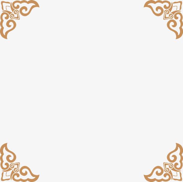 装饰元素 中国风 > 手绘棕色花纹边框  收藏 [声明] 觅元素所有素材为