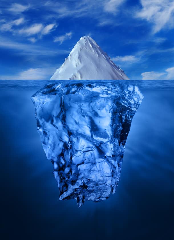雪山冰山蓝色大屏免抠素材免费下载_觅元素51yuansu.