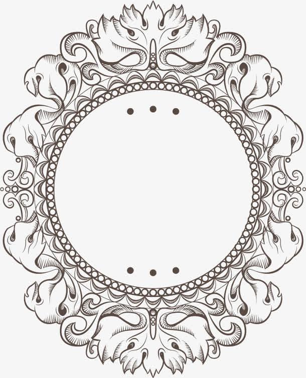 欧式花纹婚礼边框