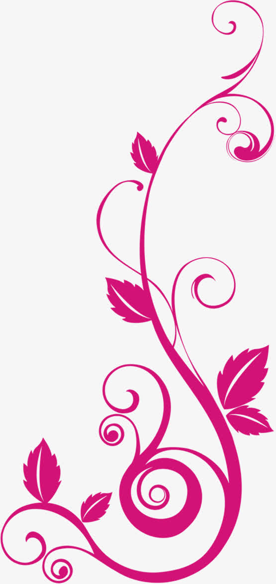 紫色卡通藤蔓婚礼免抠素材免费下载_觅元素51yuansu.