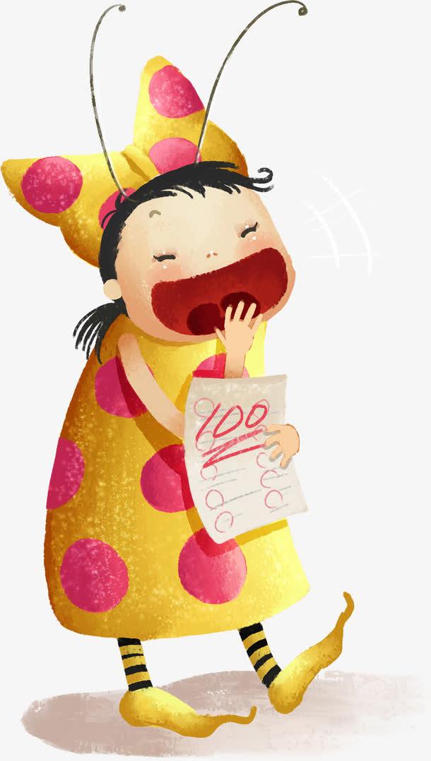 开心大笑儿童手绘