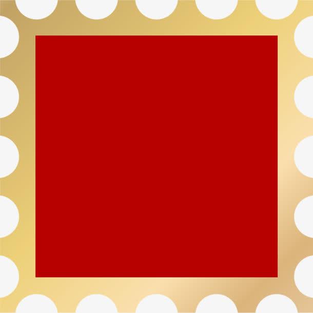 红色方块图标黄色边框免抠素材免费下载_觅元素51.