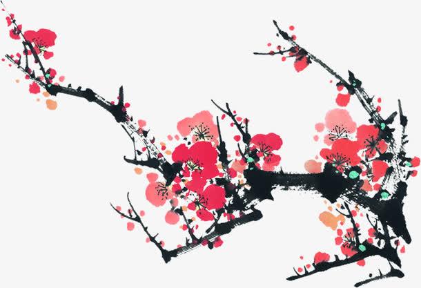 梅花苏杭园林海报设计