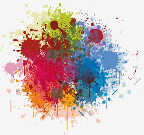 装饰元素 墨迹笔触 > 彩色颜料毛笔字涂鸦  收藏 [声明] 觅元素所有