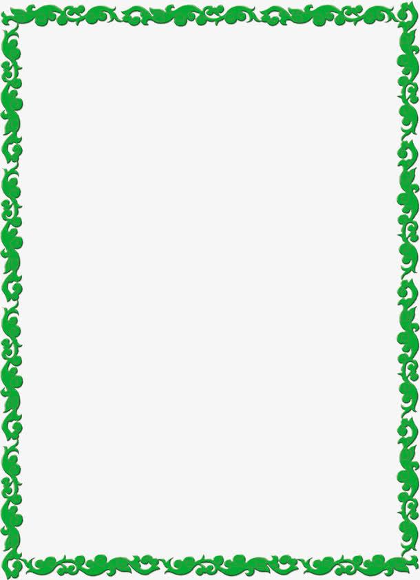 绿色藤蔓边框欧式花纹
