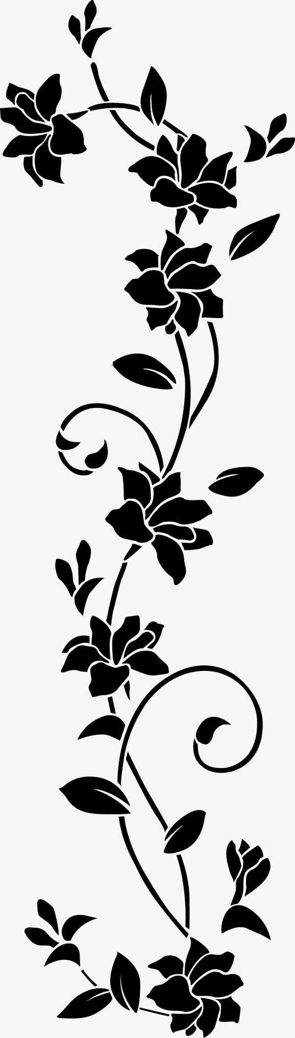 黑色花纹茶叶包装图片