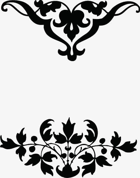 装饰元素 花纹 > 黑色大气花边边框  收藏 下载高清png 411 编号jvqe