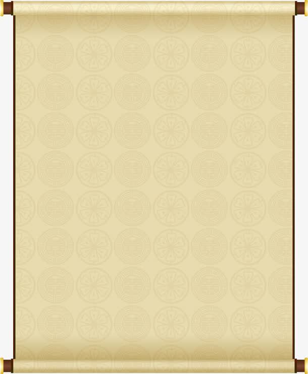装饰元素 边框 > 黄色印花中国风卷轴印章  收藏 [声明] 觅元素所有素
